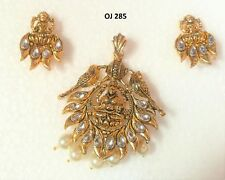 Finish Fashion Necklace Earrings Sets Indian Traditional Temple Jewelry Gold