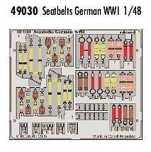 Eduard 1/48 GERMAN WWI Ceintures pré-peint en couleur! # 49030