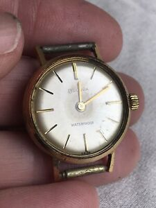 Vintage 1960s Ladies Bulova Swiss Mechanical Watch Working