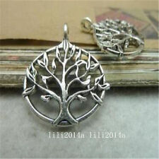 "10pc Tibetan Silver ""Tree Of Life"" Pendant Charms Bead Accessories G164Y"