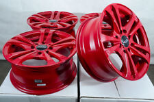 "14"" Wheels Honda Civic Accord Fit Nissan Altima Cube Sentra Versa Red Rims 4 Lug"