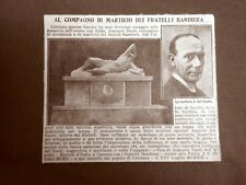 Licciana presso Spezia nel 1919 Onoranze a Anacarsi Nardi Fratelli Bandiera
