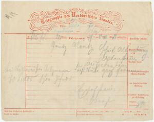 Lot 2x Telegramm Telegraphie des Norddeutschen Bundes 1860
