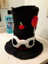 crochet willy wonka inspired toliet paper holder bathroom floor display ooak