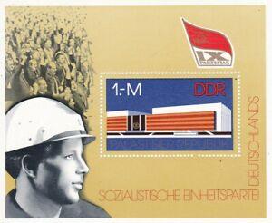 Block DDR Michel 45 postfrisch '9.Parteitag der SED'