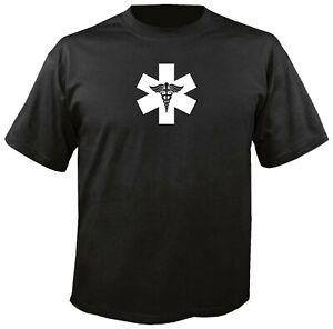 STAR OF LIFE CADUCEUS T-SHIRT Medic Corpsman Army USMC Navy EMT Paramedic