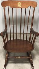 New University of Mississippi Maple Rocking Chair w/School Symbol & Motto