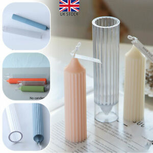 Long Pole Candle Mold Plastic Pillar Candle Making DIY Candle Mould Supplies UK
