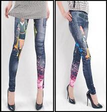 New Women Fashion Jeggings Stretch Skinny Leggings Blue ONLINE