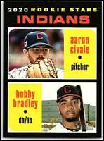 2020 Topps Heritage #83 Aaron Civale/Bobby Bradley RC Rookie Cleveland Indians
