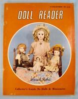 Doll Reader Vintage Collectors Magazine October November 1981 French Bebes (O)