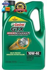 Castrol 03111 GTX High Mileage 10W-40 Motor Oil - 5 Quart