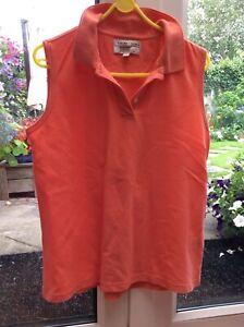 rust ladies golf top by IZOD CLUB , size L ,14