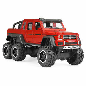 1:32 G63 AMG 6X6 Off-road SUV Model Car Diecast Gift Toy Vehicle Sound Kids Red