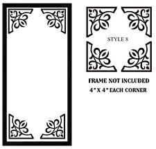 4 X CUT VINYL STICKERS FOR  PHOTO FRAME / MIRROR / CORNER DECORATION STYLE 08
