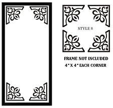 4 X TAGLIO VINILE ADESIVI PER FOTO FRAME / SPECCHIO / angolo decorazione stile 08