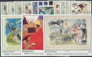 Redonda/Dominica 1980er Jahre Blöcke und Sätze  postfrisch**
