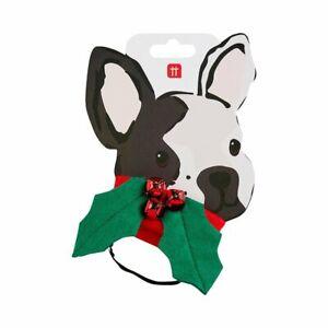 TALKING TABLES CHRISTMAS Botanical Hound Holly Dress Up Festive Dog Collar