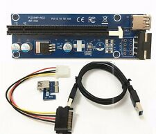 USB 3.0 PCI-E Express 1x to16x Extender Riser Carte Adaptateur SATA 4Pin Câble d'alimentation