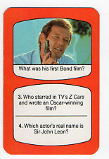 1980s UK TV Times Card James Bond Star Roger Moore Octopussy Man With Golden Gun