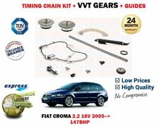 FOR FIAT CROMA 2.2 16v 147BHP 2005--> TIMING CHAIN KIT + CAM VVT GEAR SET