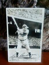 1950 Lou Boudreau signed autograph 6 x 5 1/2 postcard