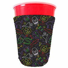 Halloween Neon Pattern Neoprene Party Cup Coolie