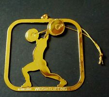 US OLYMPIC WEIGHTLIFTING CHRISTMAS ORNAMENT 1988 USOC NEW OLD STOCK OLYMPICS