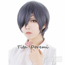 Halloween Wig Cosplay Black Butler CIEL blue black short party fashion Hair