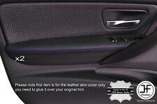 PURPLE Stitch 2x Porta BRACCIOLO IN PELLE copre gli accoppiamenti BMW SERIE 3 F30 F31