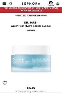 Dr. Jart+ Water Fuse Hydro Soothe Eye Gel 20g/0.7 oz. (expired)