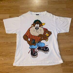 Vintage 1993 Tasmanian Devil Tazzy Taz Double Sided Looney Tunes XL T-Shirt VTG