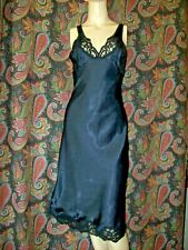 New listing Vintage Wonder Maid High Sheen Black Satin Lacy Dress Slip 34
