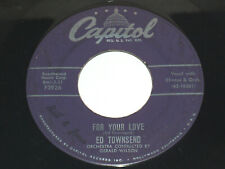 45 RPM Ed Townsend For Your Love, Over And over Again Capitol Vinyl 3926 VG
