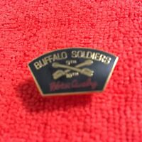 US ARMY 9TH & 10TH CAVALRY BUFFALO SOLDIERS HORSE CAVALRY HAT PIN
