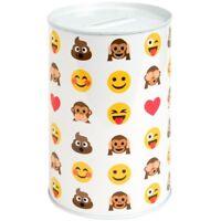 15cm Kids Childrens Smiley Face Money Tin Box Piggy Bank Emoji Saving Gift Coin