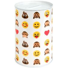 15cm Kids Childrens Smiley Face Money Tin Box Piggy Bank Emoji Saving Gift Coin