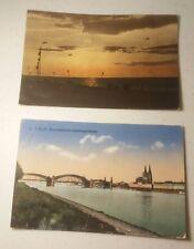 2 WW1 German Feldpost Post Cards of Brunshaupten & Coln Germany