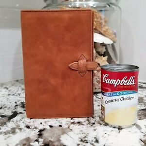 """Leather Organizer Buffalo Compact Agenda Planner 6 Ring 8"""" by 5"""" No Paper NEW"""