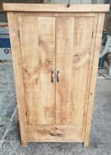 NEW SOLID WOOD RUSTIC CHUNKY PLANK LAUNDRY-BEDDING-HALL CUPBOARD * MADE TO ORDER