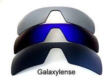 Galaxy Replacement Lenses For Oakley Oil Rig Black&Blue&Titanium Polarized 3Pair
