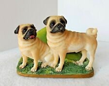 Pug Dog Business Card Or Stickly Note Holder For Office Or Home Desk