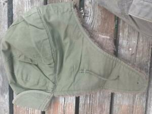Vintage US Military M-1951 Pile Field Cap Size 7 Green Wool M-51