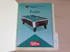 GREAT AMERICAN EAGLE BILLARD TABLE POOL    ARCADE GAME  FLYER