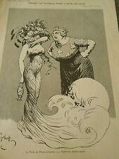 Projet de Panneau pour l'Hotel de Ville La Seine dessin Gerbault Print 1910