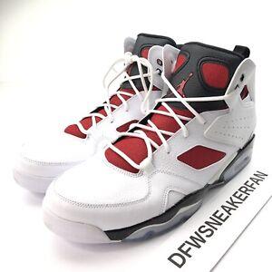 Nike Air Jordan FLIGHT CLUB '91 Men's 12 Red White Basketball Shoes 555475-121