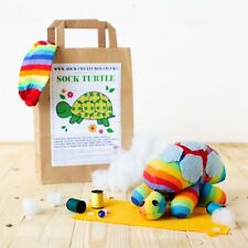 SOCK TURTLE CRAFT KIT - Fun sewing craft kit for kids and adults, a great gift!