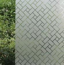 Decorative Privacy Window Film No Glue Decor Static Cling Glass Sticker 45x200cm