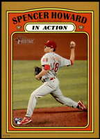 Spencer Howard  2021 Topps Heritage In Action 5x7 Gold Phillies Rookie /10