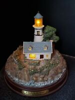 """Thomas Kinkade's Lighted Lighthouse Series """"A Light in The Storm"""" - Limited Ed."""